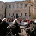 Απωθήσεις και χημικά από τα ΜΑΤ προς τους συγκεντρωμένους εκπαιδευτικούς και εργαζόμενους της ΠΟΕ ΟΤΑ -  Πορεία των εκπαιδευτικών,    foto -video