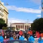 Απεργιακές συγκεντρώσεις σε Αθήνα, Θεσσαλονίκη, Χανιά ενάντια στον αντιλαϊκό προϋπολογισμό (15-12-2020) - φωτορεπορτάζ και βίντεο